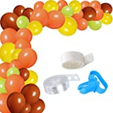 wonderfulshop 100Pack Balloon Garland Arch Kit for Fall Party-100Pcs Orange Yellow Brown Green Balloons, 16 Feets Arch Balloon Strip Tape, Glue Dots for Autumn Thanksgiving Little Pumpkin Party (Color: Orange, Yellow, Brown, Green)