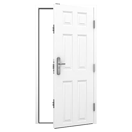 Latham's 6 Panel Standard Duty Security Steel Door - RH Hinged - Outward Opening (895x2020)