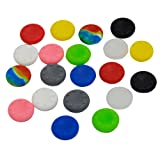VizGiz 20pcs Rubber Silicone Analog Controller Thumb Stick ThumbStick Grips Skin Cap Protector Covers for PS3 PS4 Accessories PS2 Play Station Playstation 2 3 4 PS Controller for Xbox 360 One (10Pair)