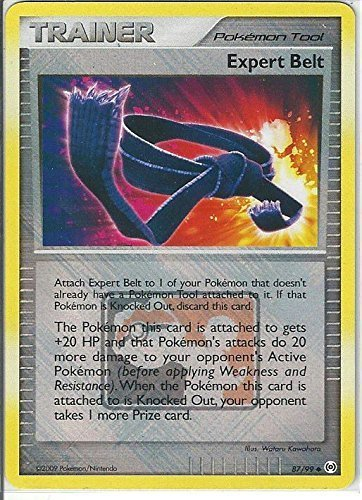 Pokemon-Cintura EXPERT 87/99 LEAGUE PROMO Nintendo Retro effetto olografico, colore: verde menta
