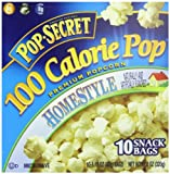 Pop Secret Snack Size 100 Calorie Homestyle, Microwavable Popcorn, 10-Count, 11.2-Ounce Box (Pack of 3)