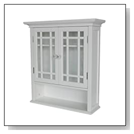 Shelved Wall Cabinet with Cubby