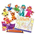 Childcraft Five Little Monkeys Storytelling Set with Felt Pieces, Pack of 9 Pieces and 1 Book
