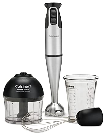 Cuisinart CSB-79 Smart Stick 2-Speed 200-watt Immersion wired Hand Blender with Attachments