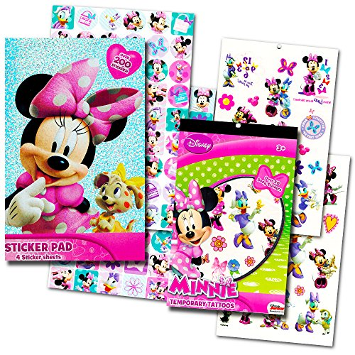 Minnie Mouse Stickers & Tattoos Party Favor Pack (200 Stickers & 50 Temporary Tattoos) - 1