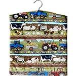 Farm Animals & Trailers Print Large L...