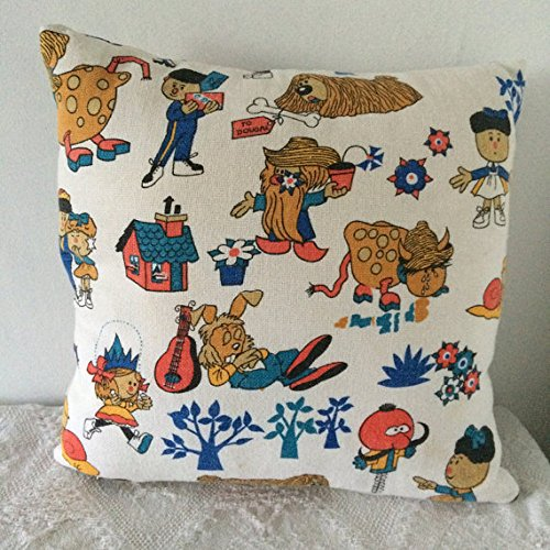 cushion-made-from-vintage-magic-roundabout-fabric-featuring-dougal-brian-dylan-ermintrude-florence-a