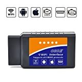 HappyCow Car WIFI OBD 2, HappyCow Wireless OBD2 Car Code Reader Scan Tool ,Scanner Adapter Check Engine Diagnostic Tool for iOS Apple iPhone iPad Air Mini iPod Touch & Andorid