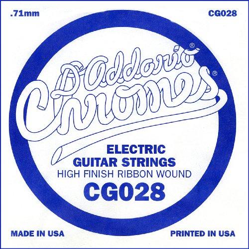 D'Addario Cg028 Flat Wound Electric Guitar Single String, .028