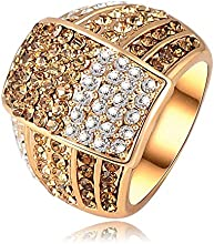 Comprar AnaZoz Joyería de Moda 18K Chapado en Oro Anillos de Mujer SWA Element Cristal Austria 22*18mm