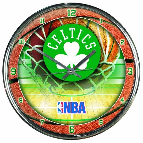 NBA Boston Celtics Chrome Clock
