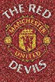 GB Eye Manchester United Red Devils Mosaic Poster