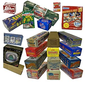 Three Assorted Vintage Baseball Card Sets from the 80's & 90's. At least One Set is 25 Years Old! Over 1000 cards!! Sets contain many Rookies & Stars. Includes such manufacturers as Topps, Donruss, Fleer, Score, Upper Deck, plus many more.