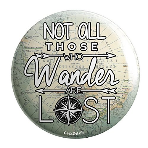Geek Details 3002 Not All Those That Wander Are Lost Pocket Mirror (Geek Details Lord Of The Rings compare prices)