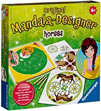 Ravensburger - 29742 - Loisir Créatif - Deco Mandala Designer - Horses
