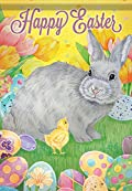 Carson Home Accents Garden Flag, Happy Easter Bunny