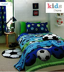 parure de lit enfant housse de couette 140x200 taie football cuisine maison. Black Bedroom Furniture Sets. Home Design Ideas