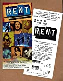 "Jonathan Larson ""RENT"" Idina Menzel / Adam Pascal / Anthony Rapp 1996 Broadway Flyer"