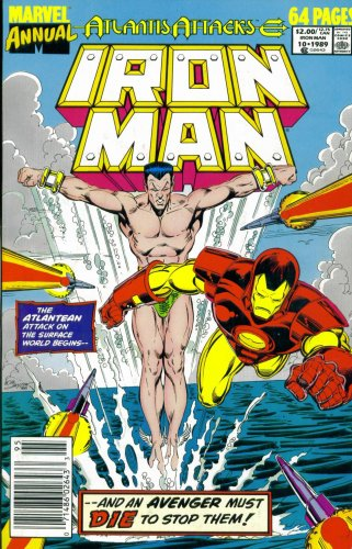Iron Man Annual #10 : Two If By Sea (Marvel Comic Book 1989) back-738335