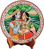 Aapno Rajasthan Radha Krishna Marble Plate (22.86 cm x 22.86 cm)