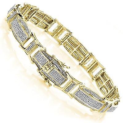 Luxurman Diamond Bracelets Gold Mens Diamond Bracelet (2.4 Cttw,H Color, SI Clarity)