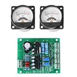 VU Panel Meter - 2 x Pcs VU Meter Warm Back Light Recording with Audio Level Amp with Driver Board