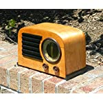 Black Retro Studebaker SB2000 Replica Portable AM/FM Radio with Aux Input