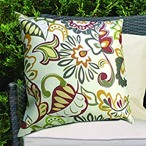 Colourful Multi Floral Design Water Resistant Outdoor Cushions for Cane/Garden Furniture by Gardenista