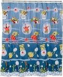 SpongeBob SquarePants Underwater Frenzy 70-by-72-Inch Vinyl Shower Curtain