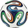 adidas Fu�ball Brazuca Junior, White/Night Blue/Multicolor, 5, F82347