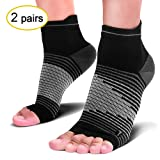 Compression Socks Sleeves (2 Pairs) for Heel Pain Relief, Best Compression Foot Sleeves with Arch Support for Plantar Fasciitis, Heel Pain, Foot & Ankle Support (Color: Black(2 Pairs), Tamaño: L/XL(Men's 8.5-14 / Women's 8-12))
