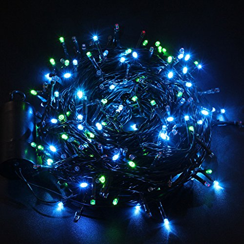 Battery Operated Led String Lights With Timer : Excelvan 131 Ft Battery Operated 300 LED String Light Built in Timer Christmas Glows