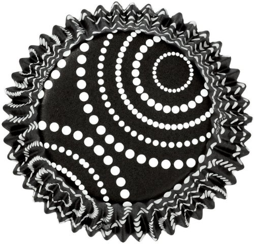 Standard Clearcup Baking Cup-Circle Dots Black - Wilton-Colorcups Baking Cups. Colorcups Are Specially Designed To Keep Colors From Fading During And After Baking. These Paper Baking Cups Have Foil-L
