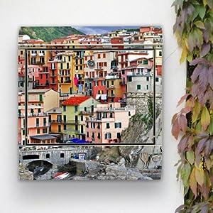 Design Briefkasten Edelstahl Briefkästen 38x42x11 von banjado mit Motiv Meerblick
