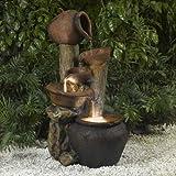 Jeco Pentole Pot Outdoor Indoor Fountain with Illumination