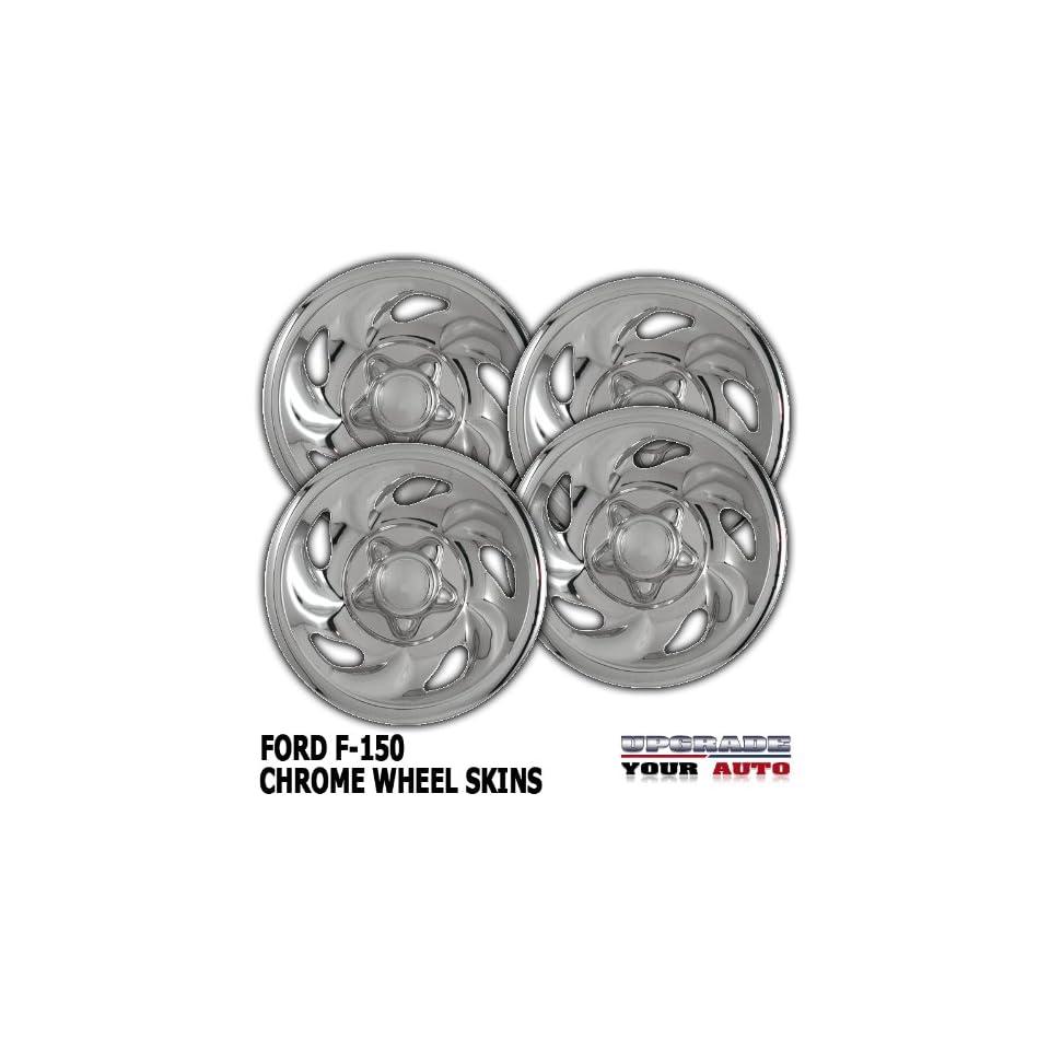 92 96 FORD F150 15 Chrome Wheel Skin Covers