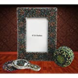 Decorative Indian Photo Frame Home Decor Table Topper Handmade Glass Picture Frame Beaded Material Photo Frames...