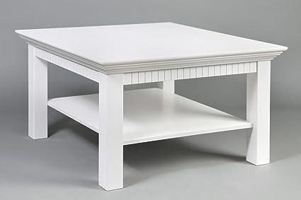 Couchtisch weiß lackiert, Maße:76x76cm