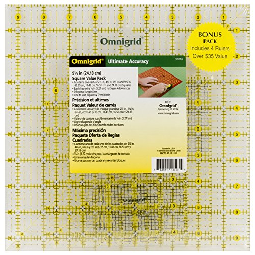 Omnigrid Ruler Value Pack 2, Package of Four (E Quilter compare prices)