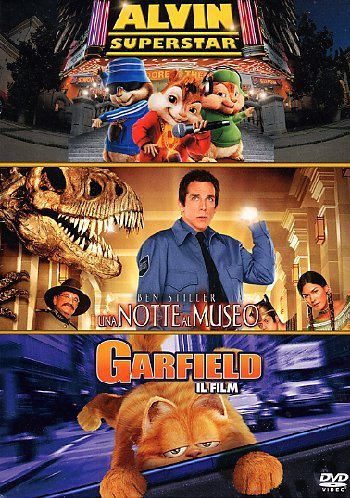 Alvin superstar + Una notte al museo + Garfield - Il film [3 DVDs] [IT Import]