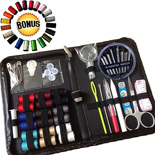 ★SEW SIMPLY BEST CHOICE SEWING KIT★FREE BONUS Extra 20 Multi Colors Thread★ Premium Sewing Supplies with All the Colors That You Really Need, Gift Box - LIMITED TIME OFFER