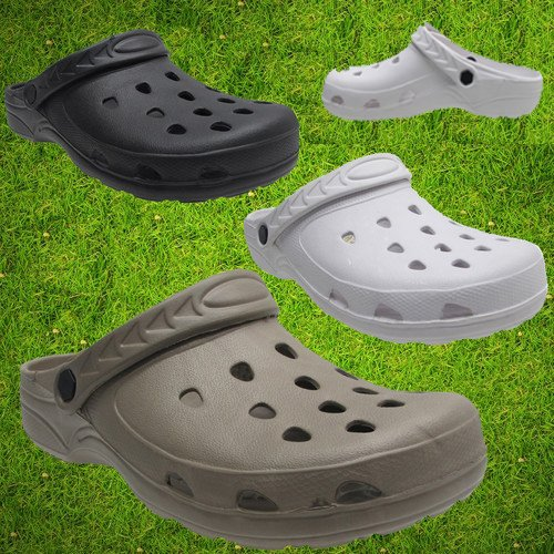 New Mens Womens Ladies Girls Fashion Clogs Plastic Garden Hospital Comfortable Slippers Beach Sandal Flip Flop Classic Moulded Clogs All Uk Size 2 - 12