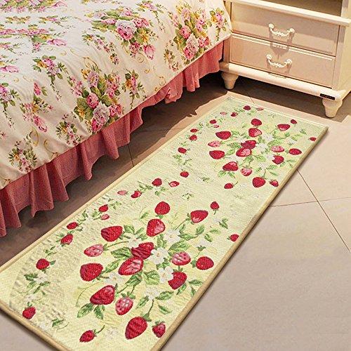 yazi Strawberry String Fabric Non-slip Kitchen Mat Rug,48x18 Inches (Strawberry Kitchen compare prices)