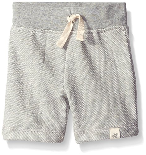 Burt's Bees Baby Baby Organic Loose Pique Short, Heather Grey, 12 Months