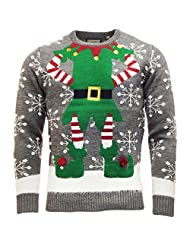 Threadbare 'Elf' Chunky Crew Neck Christmas Jumper