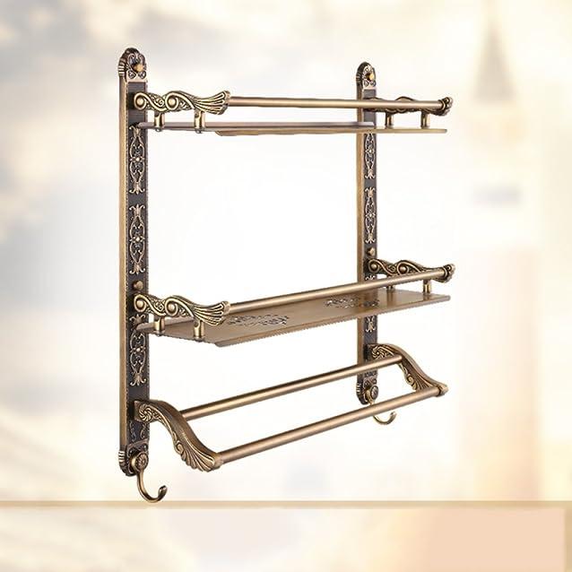 Zyhyeuropean antico attività pieghevole rack bronzo europeo bagno bagno ciondolo in metallo, porta asciugamani, D