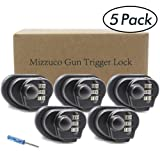 Mizzuco Trigger Lock 3 Digit Combination Gun Lock Pack 5 Fits Pistols Hand Gun Rifles Bb Gun Shotguns