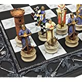 Medieval Times Crusades King Richard Christian Knights Chess Set with 17