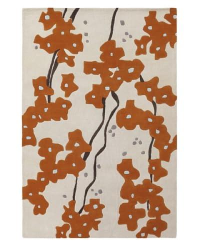 Chandra Inhabit Rug, Cream/Orange, 5' x 7' 6