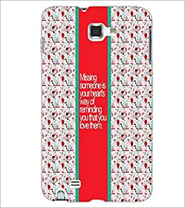 PrintDhaba Quote D-5754 Back Case Cover for SAMSUNG GALAXY NOTE 1 (Multi-Coloured)